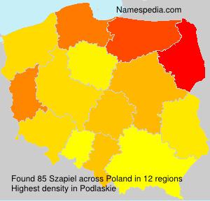 Familiennamen Szapiel - Poland