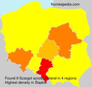 Surname Szargot in Poland