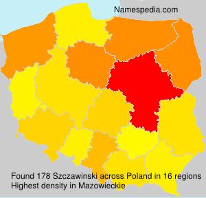 Familiennamen Szczawinski - Poland