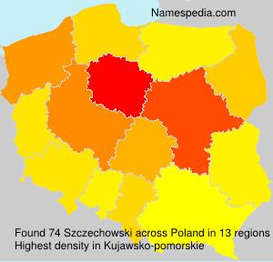 Surname Szczechowski in Poland