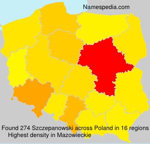 Familiennamen Szczepanowski - Poland