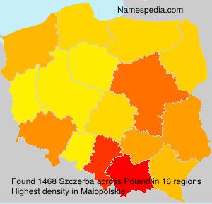 Surname Szczerba in Poland