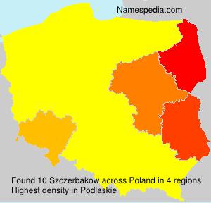 Surname Szczerbakow in Poland