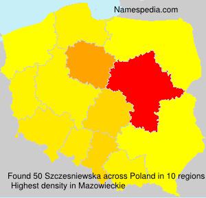 Familiennamen Szczesniewska - Poland