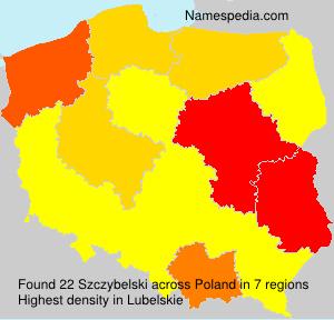 Surname Szczybelski in Poland