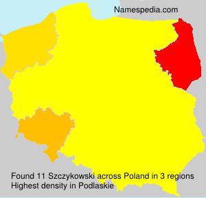 Surname Szczykowski in Poland