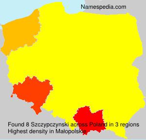 Surname Szczypczynski in Poland