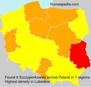 Surname Szczypiorkowski in Poland