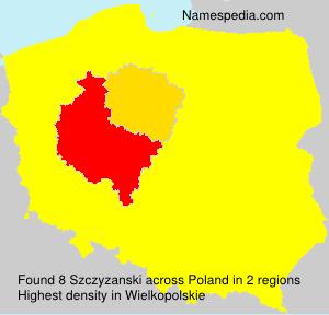 Surname Szczyzanski in Poland