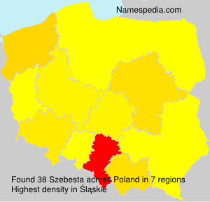 Surname Szebesta in Poland