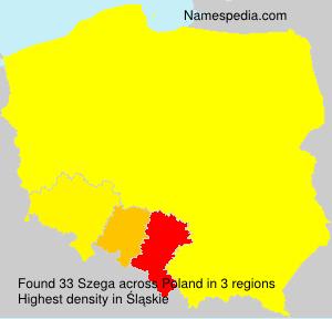 Surname Szega in Poland