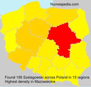 Surname Szelagowski in Poland