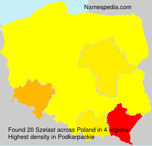 Surname Szelast in Poland