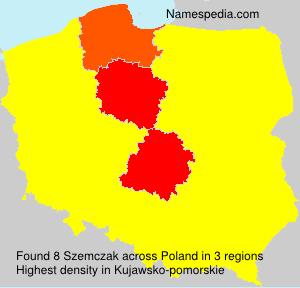 Surname Szemczak in Poland