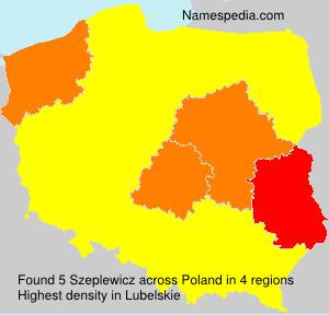 Surname Szeplewicz in Poland