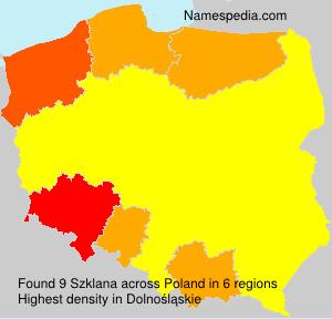 Surname Szklana in Poland