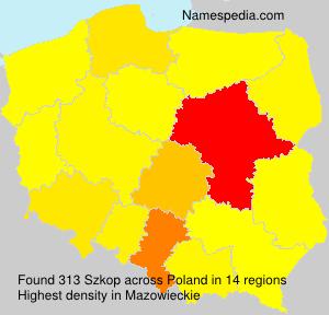 Surname Szkop in Poland