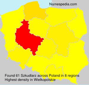 Surname Szkudlarz in Poland