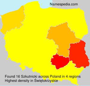 Surname Szkutnicki in Poland
