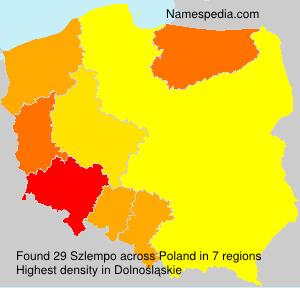 Familiennamen Szlempo - Poland