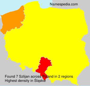 Familiennamen Szlijan - Poland