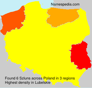 Surname Szluns in Poland