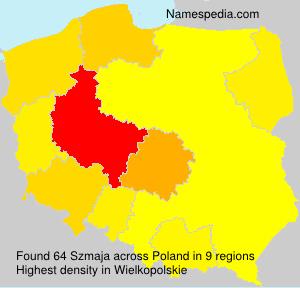 Surname Szmaja in Poland