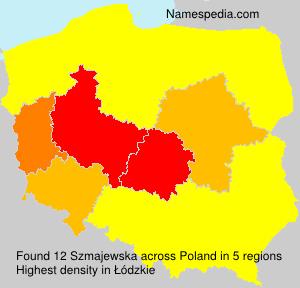 Surname Szmajewska in Poland