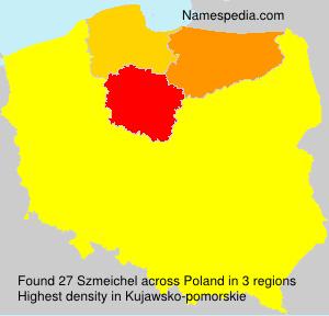 Surname Szmeichel in Poland