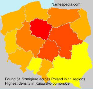 Surname Szmigiero in Poland