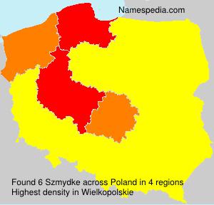 Surname Szmydke in Poland