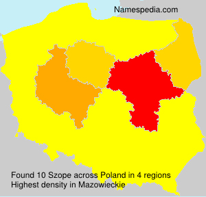 Surname Szope in Poland