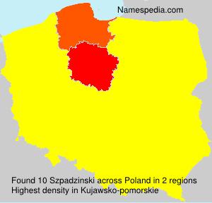 Familiennamen Szpadzinski - Poland
