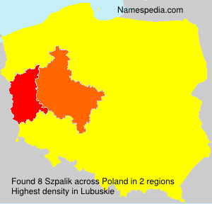 Surname Szpalik in Poland