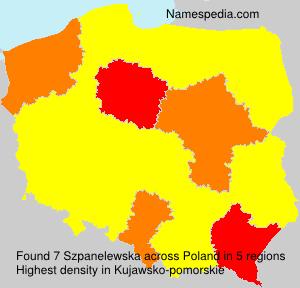 Surname Szpanelewska in Poland