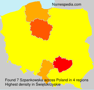 Familiennamen Szpankowska - Poland