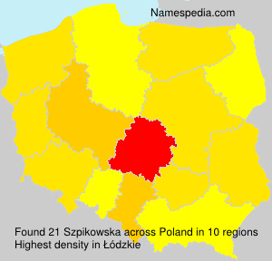 Familiennamen Szpikowska - Poland