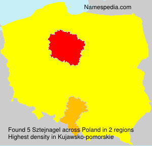 Surname Sztejnagel in Poland