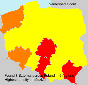 Surname Szternal in Poland