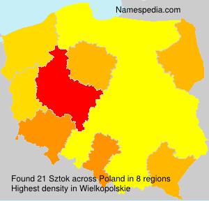 Familiennamen Sztok - Poland