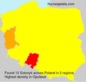 Familiennamen Sztonyk - Poland