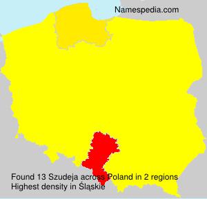 Surname Szudeja in Poland