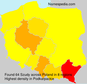 Familiennamen Szudy - Poland