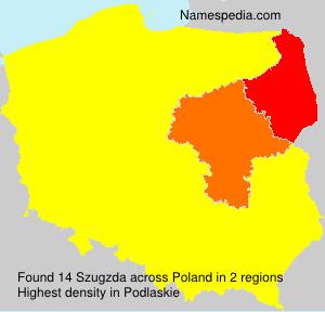 Surname Szugzda in Poland