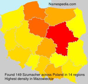 Familiennamen Szumacher - Poland