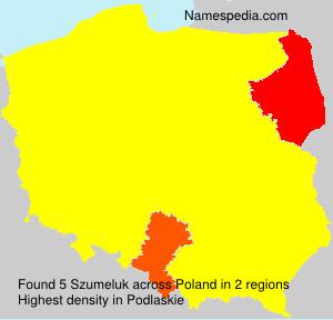 Surname Szumeluk in Poland