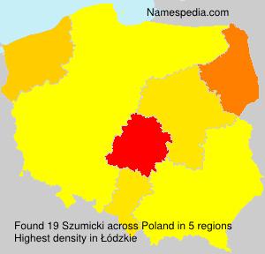 Surname Szumicki in Poland
