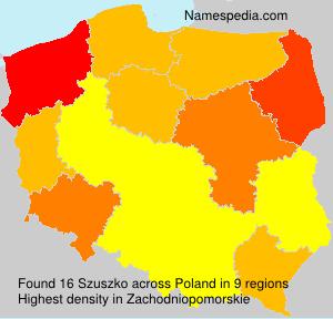 Familiennamen Szuszko - Poland