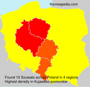 Surname Szuwala in Poland