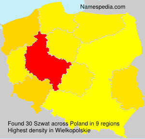 Surname Szwat in Poland